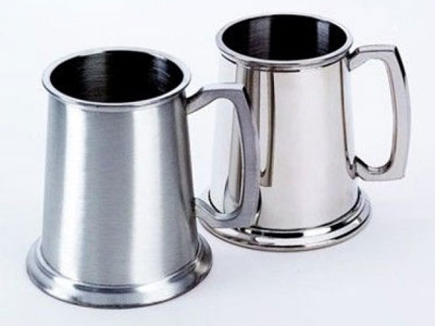 engraved pewter mugs