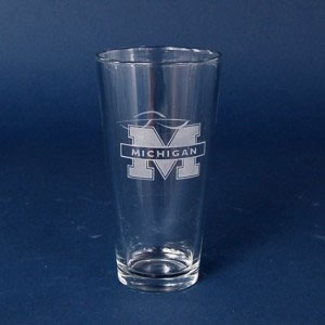 engraved pub glass