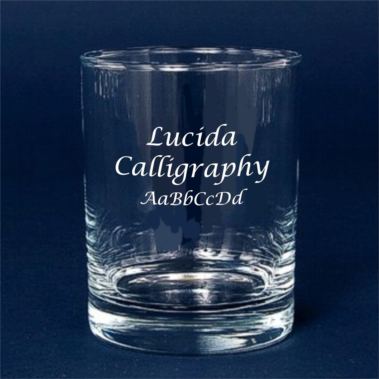 Custom Engraved Font Lucida Calligraphy