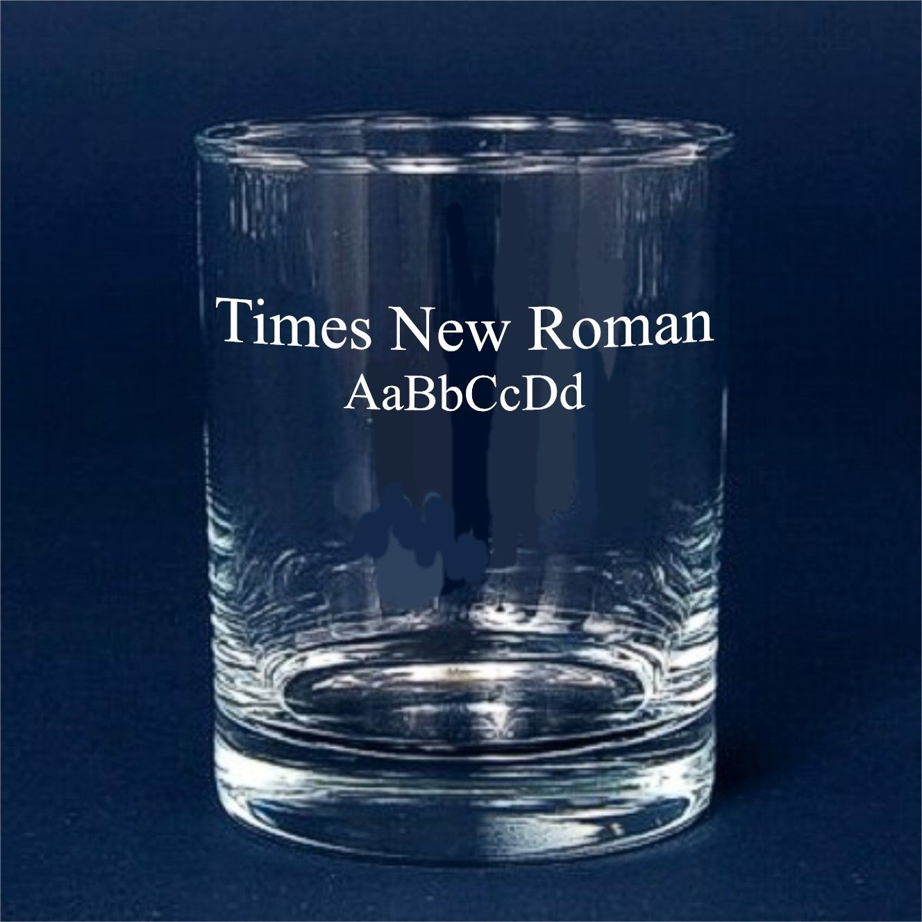 Custom Engraved Font Times New Roman